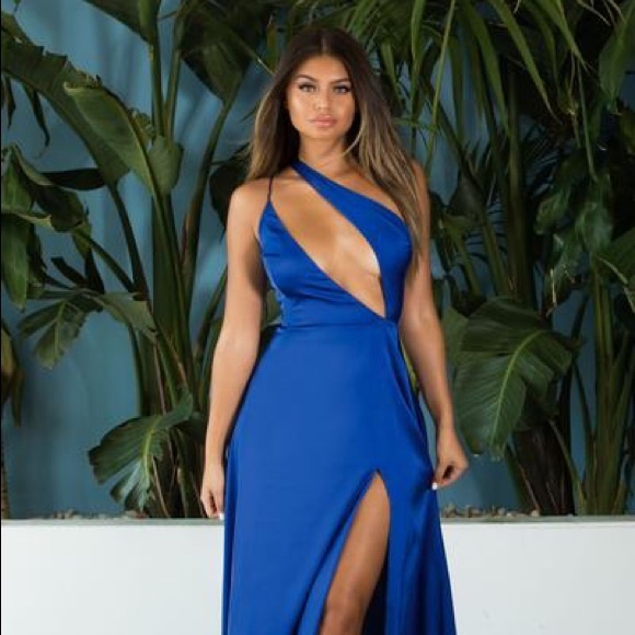c01337a37ac Abyss By Abby Catching Fire Blue Dress Gown